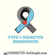 Diabetes Awareness Ribbon Clip Art Royalty Free Gograph