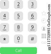 Dial Pad Clip Art - Royalty Free - GoGraph