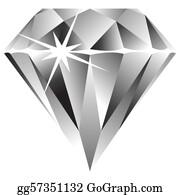 Diamond realistic. Clip art royalty free