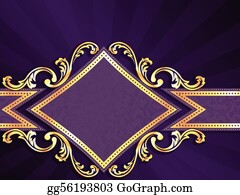Eps Vector Diamond Shaped Red And Gold Banner Stock