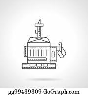diesel generator icon industrial power diesel generator flat line vector icon generator clip art royalty free gograph
