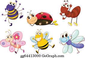 Tiny Insects Clip Art