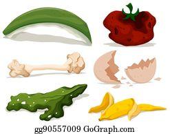 Rotten Food Illustration 24008365 - Megapixl