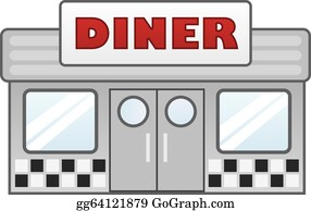 Diner Clip Art - Royalty Free - GoGraph