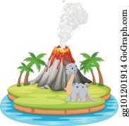 Volcano Eruption With Hot Lava Illustration Royalty Free Cliparts, Vectors,  And Stock Illustration. Image 50651078.