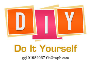 Drawing have faith in yourself pink orange clipart drawing diy do it yourself pink orange blocks solutioingenieria Images