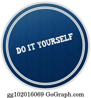 Drawing pending round badge clipart drawing gg101842047 gograph do it yourself distressed text on blue round badge solutioingenieria Gallery