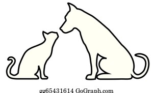 Cat And Dog Clip Art - Royalty Free - GoGraph