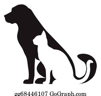 Dog Cat Silhouette Clip Art Royalty Free Gograph