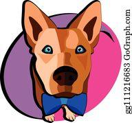 Pomeranian Husky Clip Art - Royalty Free - GoGraph