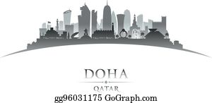 Doha Qatar Clip Art - Royalty Free - GoGraph