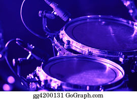 Grid Gograph Com Drum Set With Microphones Stock P