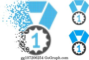 Clip Art 1St Place Gold Medal - Royalty Free - GoGraph