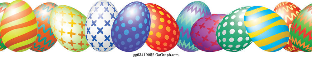 Easter Egg Border Clip Art - Royalty Free - GoGraph