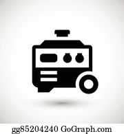 diesel generator icon electrical ground electric generator icon diesel generator clip art royalty free gograph