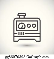 diesel generator icon transparent electric generator line icon diesel generator clip art royalty free gograph