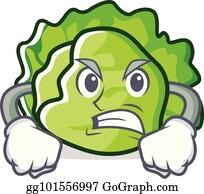 Clip Art Salade Verte Caractère Libre De Droits Gograph