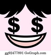 Money Eyes Cartoon Icon Vector Illustration Graphic Design Royalty Free  Cliparts, Vectors, And Stock Illustration. Image 76315890.