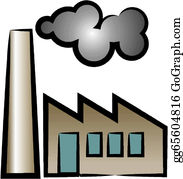 Smoke factory. Smokestack clip art royalty