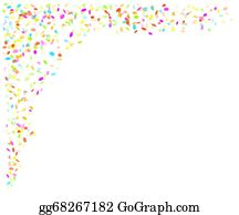Confetti Falling Clip Art - Royalty Free - GoGraph