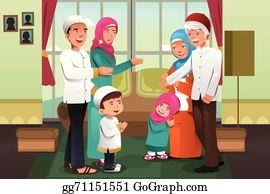 ᐈ Families stock images, Royalty Free muslim family cliparts pictures    download on Depositphotos®
