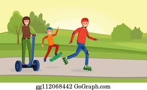 Active Family Clip Art - Royalty Free - GoGraph