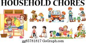 Job Chart Chore Chart Clip Art | Etsy