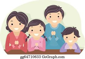family praying clip art royalty free gograph