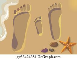 Footprints Sand Clip Art Royalty Free Gograph