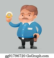 Cop Eating Donut Clip Art Royalty Free Gograph