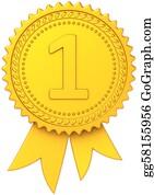 clipart first place award ribbon hi res stock illustration