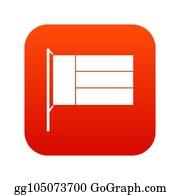 Stock Illustrations - Farmer icon digital red  Stock Clipart