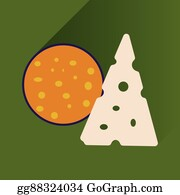 Vector Illustration - Flat with shadow icon chinese cheese