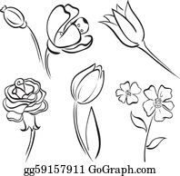 Kvet Flower Bar, Borders For Paper, Flower Line Drawings, - Pink Flowers  Clipart - 445x400 PNG Download - PNGkit