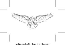 Crow Flying Clip Art
