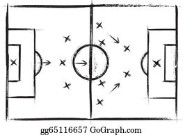 Vector Clipart Vector American Football Field Vector Illustration Gg60339919 Gograph