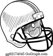 Football Helmet Sketch Clip Art Royalty Free Gograph