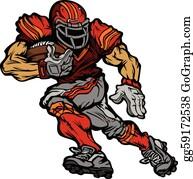 multicolored,character,sports,bodybuilding,creative,cartoon,dazzle,brilliant  sport silhouette,riotous pro… in 2020 | Football logo design, Football  players, Sports wall art