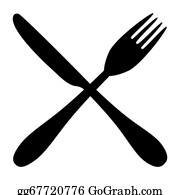 Fork Knife Clip Art - Royalty Free - GoGraph