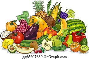 Miraculous Fruit And Vegetables Clip Art Royalty Free Gograph Interior Design Ideas Pimpapslepicentreinfo