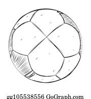 Fussball Ball Skizze Clipart Lizenzfrei Gograph