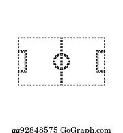 Tafel Fussball Feld Clipart Lizenzfrei Gograph