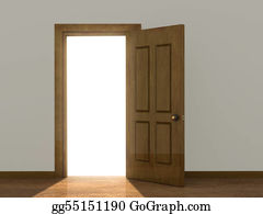 Open Door Clipart stock illustration - open door. clipart illustrations gg55642902