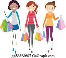 01422241a97 Shopping Girl Clip Art - Royalty Free - GoGraph