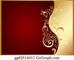 gold and red invitation card - Invitation Card Stock