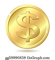 Gold Coin Clip Art - Royalty Free - GoGraph