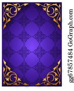 Purple And Gold Frame Cartoon Royalty Free Gograph