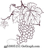 red grapes clip art royalty free gograph Grape Oil grapes with leaves