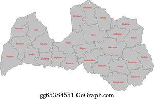 Vector Illustration Outline Latvia Map EPS Clipart Gg - Latvia map outline