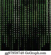 Green Matrix Background Computer Generated Clip Art